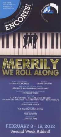 Merrily We Roll Along [Encores! Production flyer]